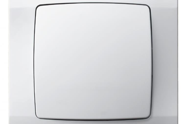 NIŻSZA CENA Karo/OSPEL; łącznik pojedynczy, tworzywo sztuczne białe, ramkę i mechanizm z klawiszem kupuje się osobno Cena: 14 zł