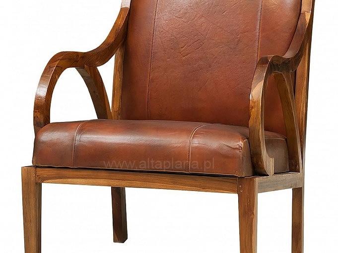W stylu tego wnętrza: fotel, drewno egzotyczne i skóra, Alta Plana, cena: 1690 zł