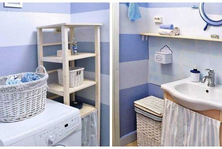 styl marynistyczny, łazienka
