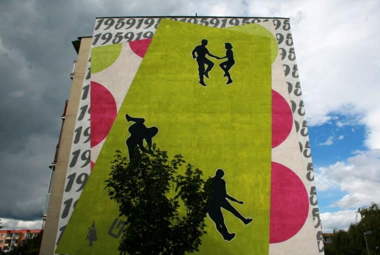 Mural autorstwa Edeltraut Rath wykonany podczas pierwszej edycji Festiwalu Monumental Art na gdańskim osiedlu Zaspa.