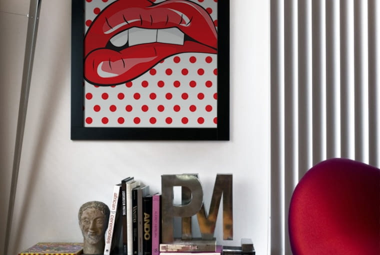 Lips - plakat standard, 40 x 60 cm, 59,83 zł, PIXERS