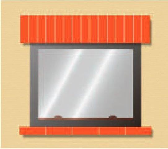 Belka nad kominkiem wykonana z cegły klinkierowej - w linii prostej