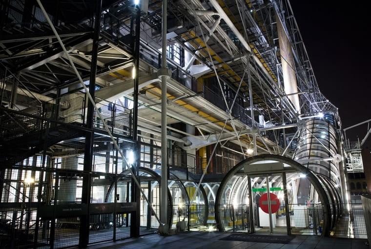 Centrum Pompidou w Paryżu, proj. Renzo Piano, Richard Rogers