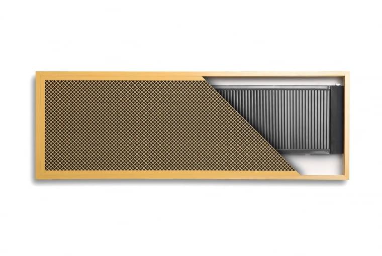 Inside/REGULUS-system   Wewnątrzścienny do montażu we wnęce   wymiary [mm]: wys. 440, 740, 1040, grub. 77, dł. 340-2140   materiał: miedziano-aluminiowy malowany proszkowo   moc: 175-2308 W (75/65/20); maks. temp.: 110°C. Cena: od 425 zł, www.regulus.com.pl