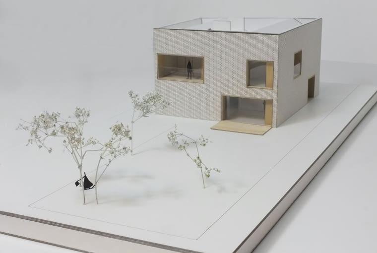 Makieta domu jednorodzinnego w Warszawie o powierzchni użytkowej 265 mkw.