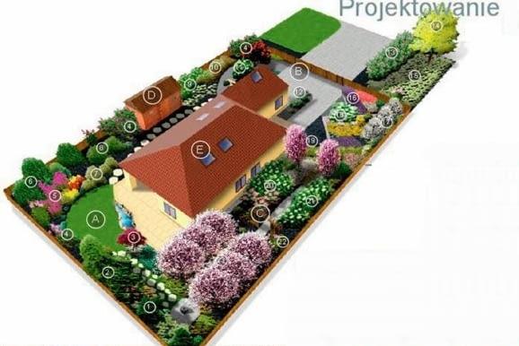 Plan nasadzeń w ogrodzie w nowym stylu