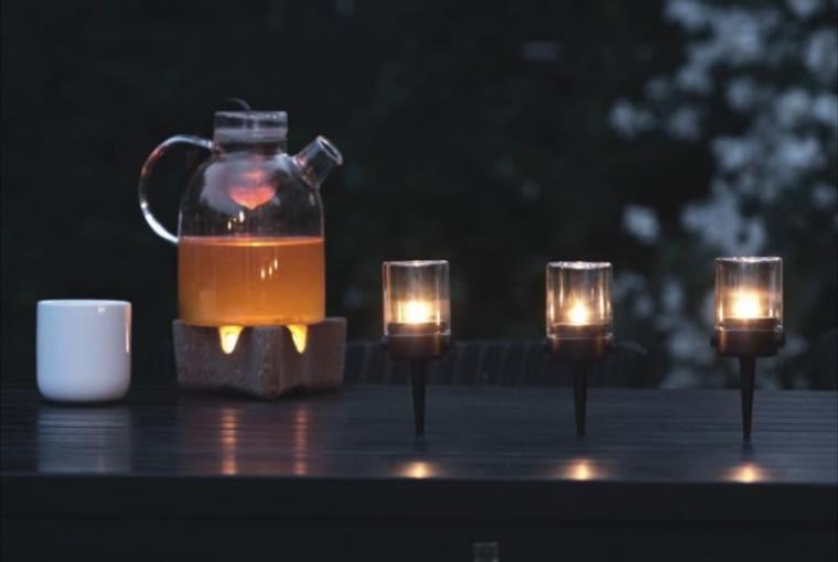 świecznik ogrodowy, światło, oświetlenie
