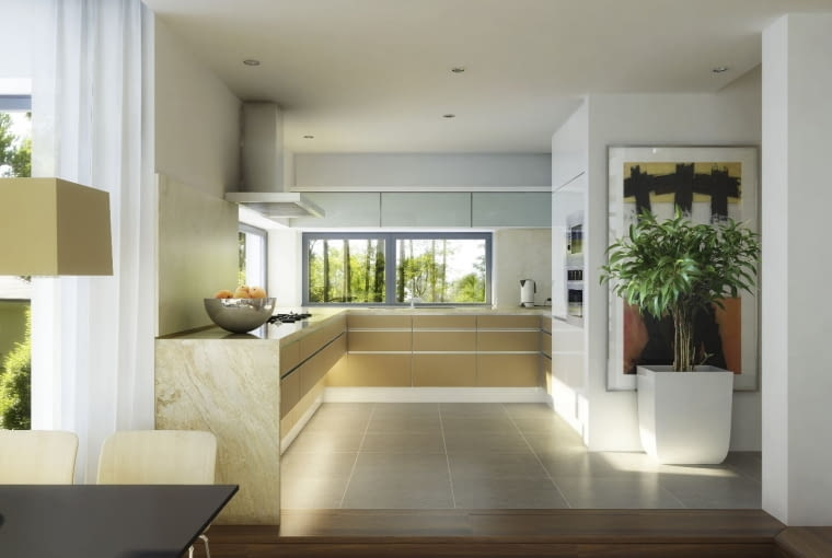kuchnia, dom nowoczesny