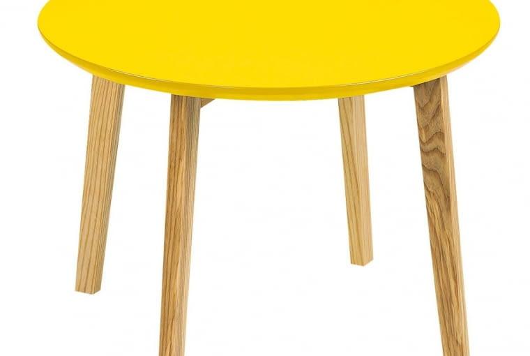 W stylu tego wnętrza: Stolik kawowy, drewno dębowe, wys. 36 cm, 239 zł, meble.pl