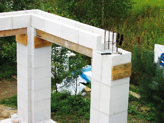 Kształtki U są deskowaniem traconym; stanowią formę na beton i pozostają w ścianie na zawsze