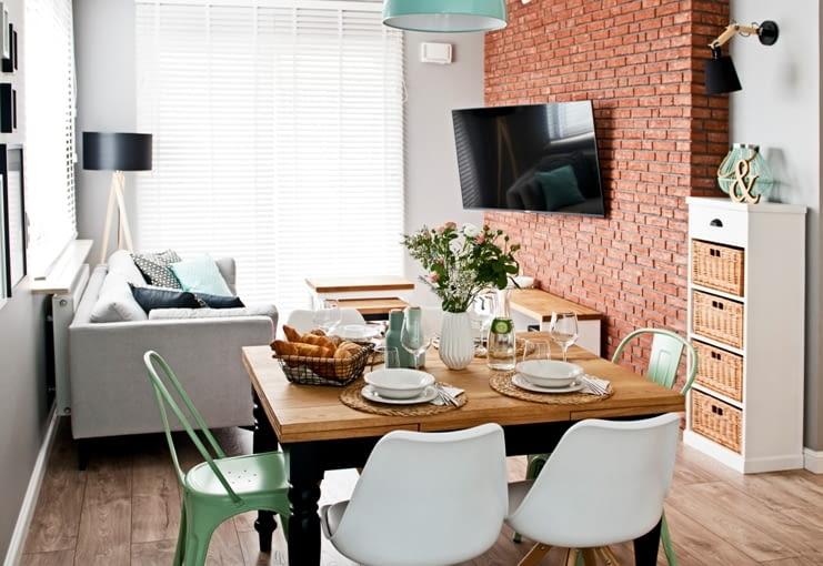 mieszkanie vintage, mieszkanie w stylu vintage, miętowe mieszkanie, mieszkanie retro