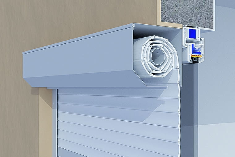 Rozwiązanie standardowe - roleta zamontowana we wnęce okiennej
