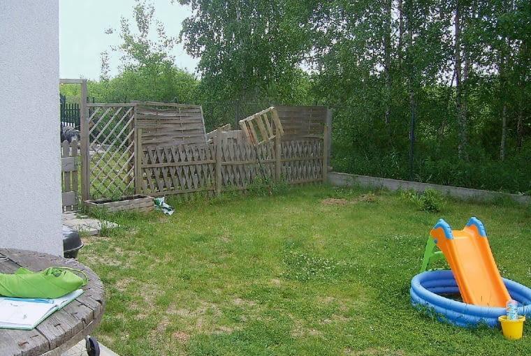 Tak było - ogród przed zmianami.