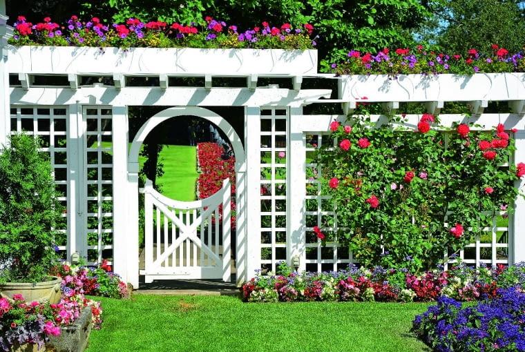 Pergole pozwalają zasłonić część gospodarczą albo inny, mniej atrakcyjny fragment ogrodu
