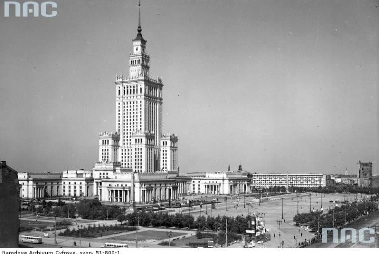 Pałac Kultury i Nauki, pl. Defilad 1, proj. Lew Rudniew, 1952-1955