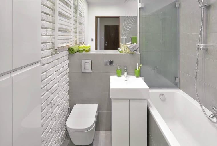 aranżacja łazienki, szara łazienka