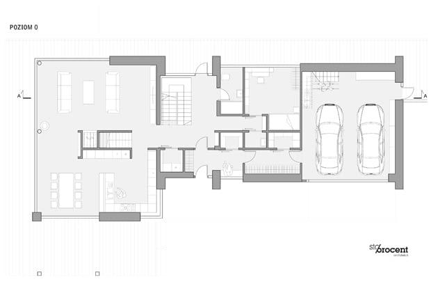 Dom W - kondygnacja wejściowa