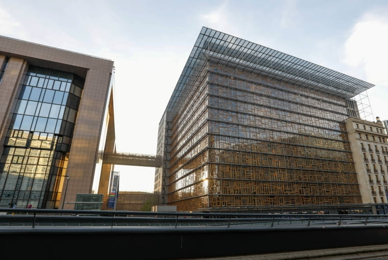 A view shows Europa, the new European Council building in Brussels, Belgium December 9, 2016. Building: Philippe Samyn and Partners architects & engineers, lead and design partner, Studio Valle Progettazioni architects, BuroHappold engineers; colour compositions by Georges Meurant. REUTERS/Yves Herman