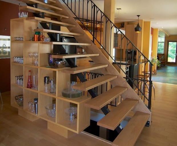 11 Pomysłów Na Wykorzystanie Miejsca Pod Schodami ładny Dom