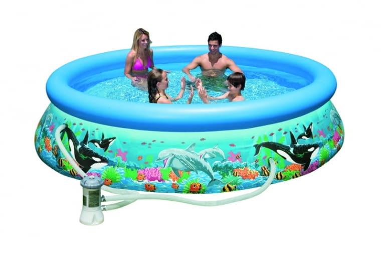 Basen ogrodowy, kąpiel, woda w ogrodzie