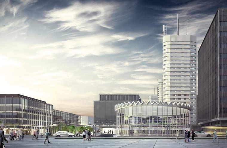 Nowa Rotunda. Zwycięski projekt autorstwa Bartłomieja Gowina i Krzysztofa Siuty.