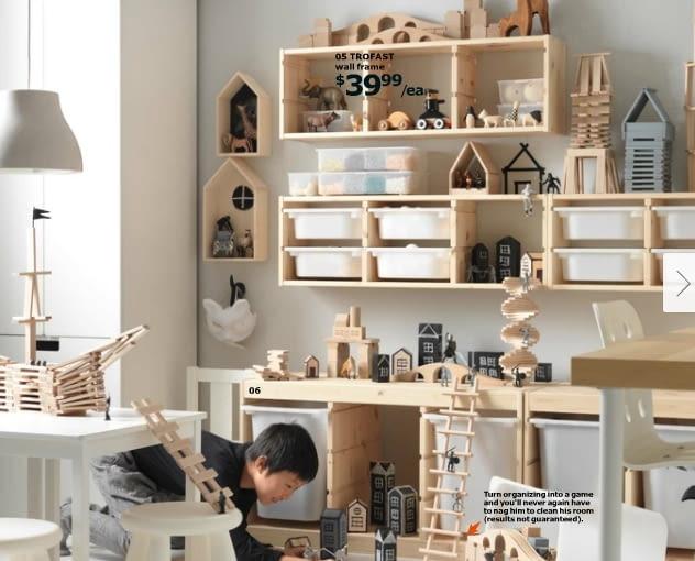 surowe drewno, katalog IKEA 2016