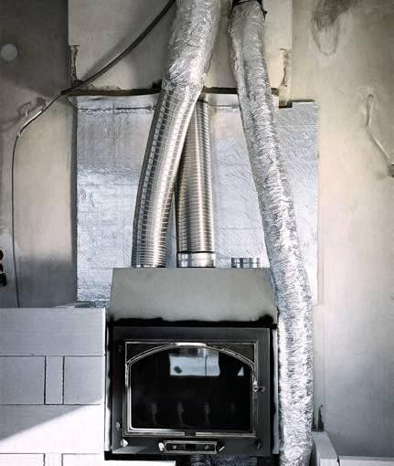 Kominek podłączony do obiegu wymuszonego