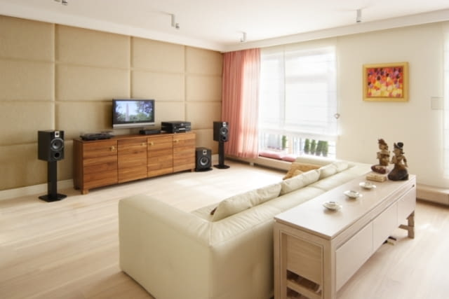 Wnętrza apartamentu - salon