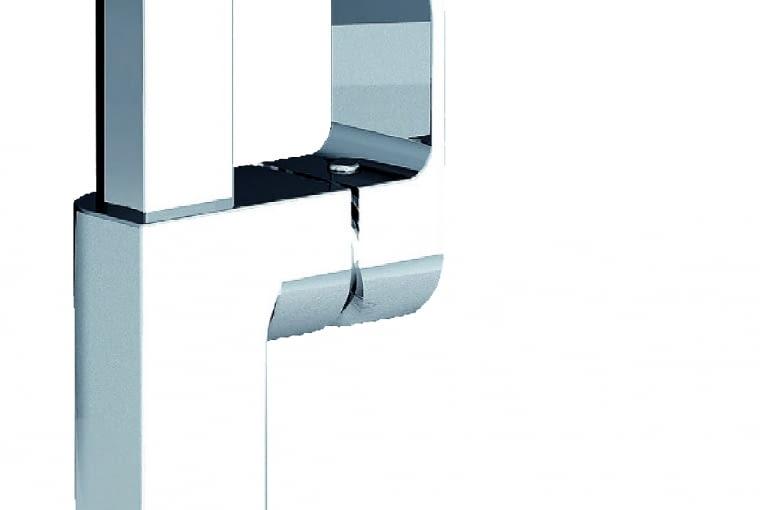 Chrome CR 016.00/Ravak   Geometryczna forma   ergonomiczny uchwyt, płynne sterowanie (SoftMove)   perlator z funkcją Easy Clean. Cena: 855 zł, www.ravak.pl
