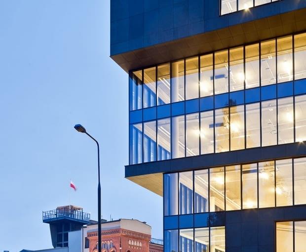 Biurowiec Grzybowska 81. Projekt autorstwa pracowni Grupa 5 Architekci
