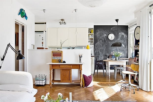 mieszkanie w skandynawskim stylu, jasne mieszkanie, jak urządzić mieszkanie, jasne wnętrza, inspirujące wnętrza