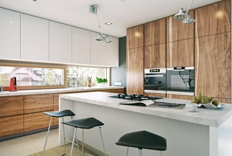 kuchnia, wyspa kuchenna, projekt domu