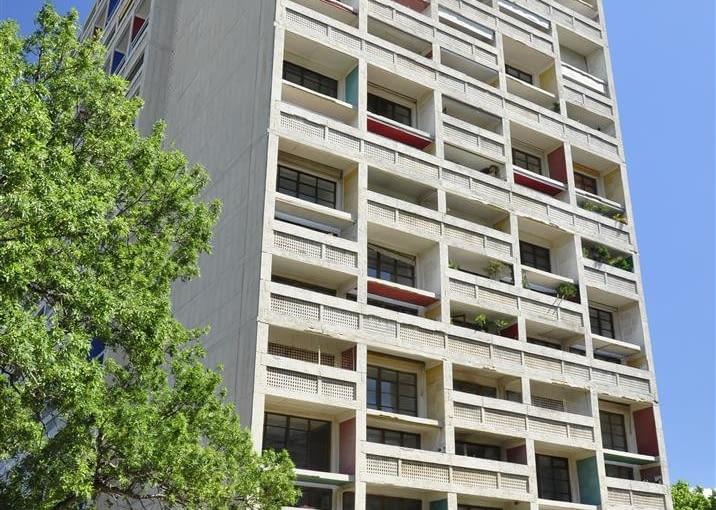 Jednostka Marsylska, proj. Le Corbusier - południowa strona budynku