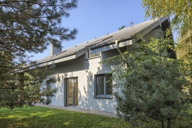 taras, ogród, dom wiejski, dach dwuspadowy, elewacja ogrodowa