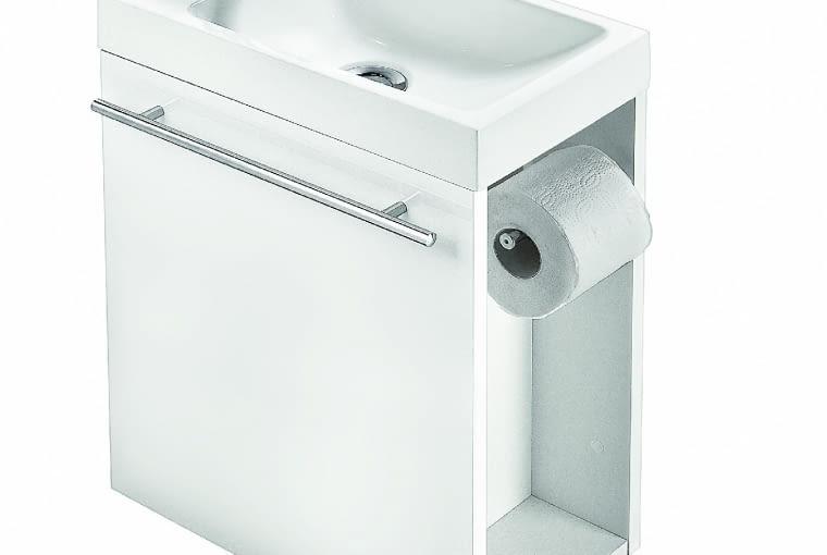 DUO, umywalkaz szafką, 40 x 22 cm,wys. 47 cm 298 zł Leroy Merlin