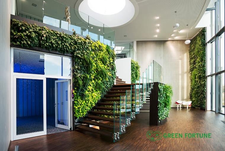 Zielona ściana w Picard, Bochum, Niemcy