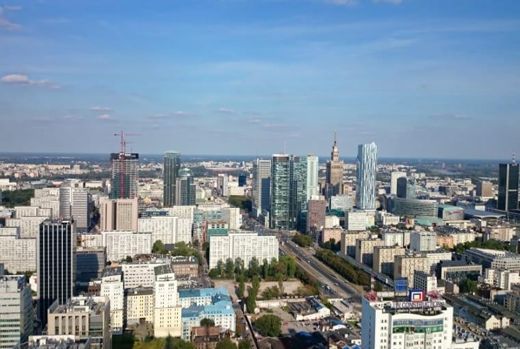 Wieżowiec Warsaw Spire - widoki z górnych pięter wieżowca są naprawdę niesamowite