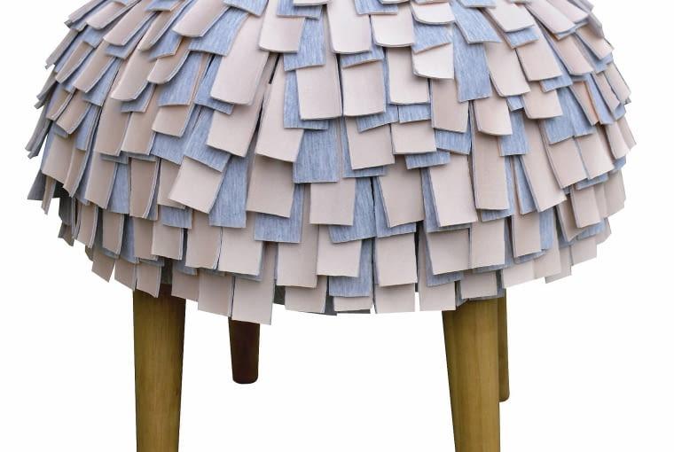Puf Afro, śr. 45 cm, wys. 45 cm, bawełna, dawanda.pl, 550 zł
