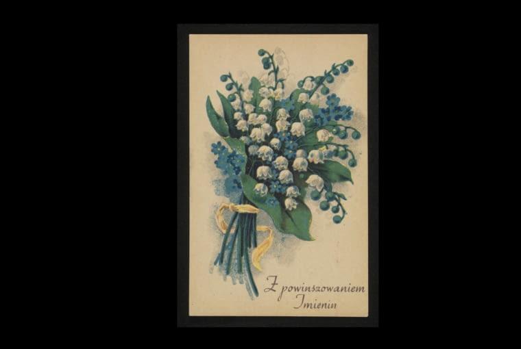 Pocztówka z konwaliami W przedwojennej Polsce pocztówki z konwaliami przesyłano sobie, gdy chciano życzyć komuś szczęścia. Często na kartkach okolicznościowych i wizytowych towarzyszyły im krasnoludki i chrabąszcze majowe, dziś kompania wprawiająca nas w zdziwienie, kiedyś niezwykle popularna
