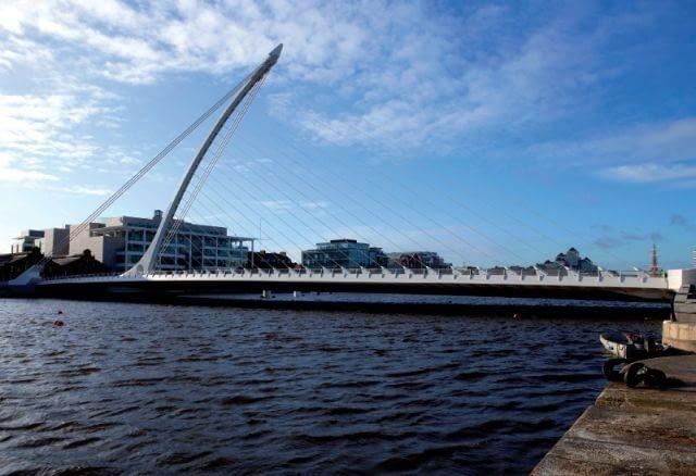 konstrukcja, santiago calatrava, dublin, irlandia, most