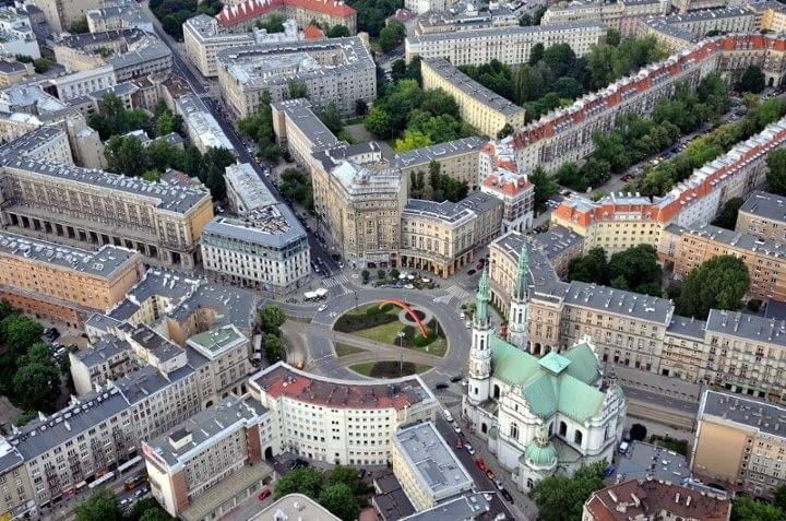 Warszawa z lotu ptaka/Facebook
