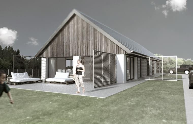 Stodom(a)- projekt nowoczesnego domu inspirowany tradycyjną formą stodoły