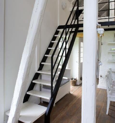 schody wewnętrzne, schody policzkowe