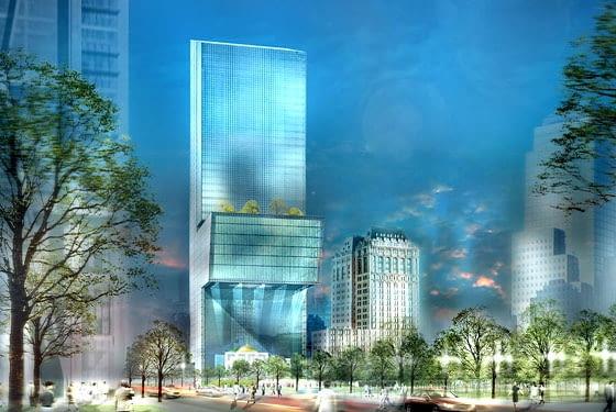 Kohn Pedersen Fox, wieżowiec, nowy jork, world trade center, 5 wtc, wieża ciemności, JPMorgan Chase tower