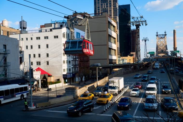 kolej linowa, komunikacja miejska, Nowy Jork