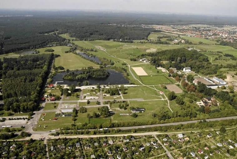 Leśny Park Kultury i Wypoczynku Myślęcinek, Bydgoszcz, zdjęcie lotnicze