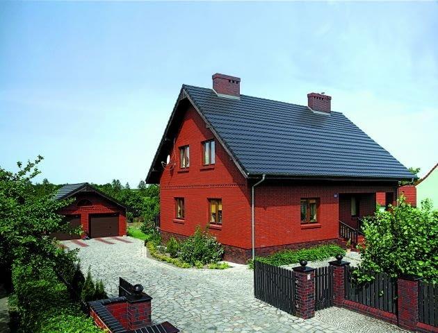 Przykład domu o prostej, zwartej, bryle