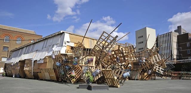 londyn, ekologia, teatr, drewno, recykling