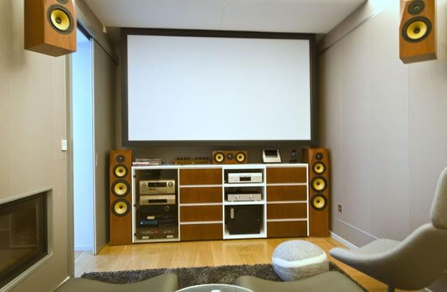 dom jednorodzinny, pokój telewizyjny