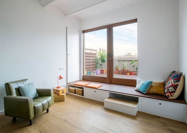 długie i wąskie mieszkanie, jak urządzić długie mieszkanie, jak urządzić wąskie mieszkanie, nowoczesne wnętrze